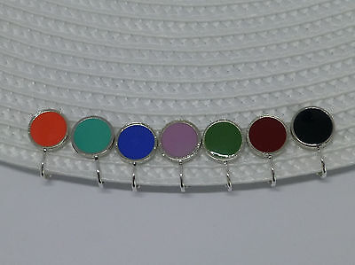 Ohrclips Ohrringe Emaille-Münze 12mm  Gold Silber -viele Farben-