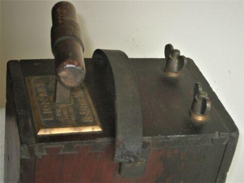 LION #3 BLASTING MACHINE~CHERRY DOVETAILED CASE~MINING~RAILROAD BLDG~TREE STUMPS