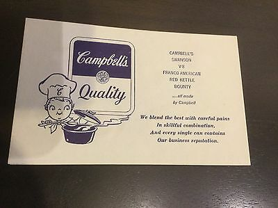 Vintage Campbell Soup Company Thank You   Refund Card