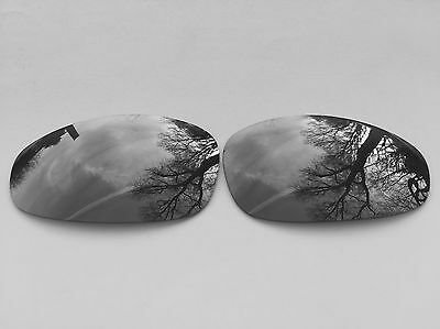 POLARIZED CHROME SILVER CUSTOM MIRRORED REPLACEMENT OAKLEY JULIET LENSES