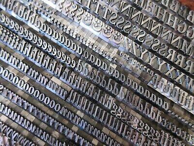 Letterpress Lead Type 30 Pt. New Caslon Italic - Inland Type Foundry  H25