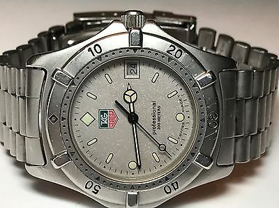 Tag Heuer Professional Men's Watch 200m Date 962.206-2 Swiss Quartz (N900)