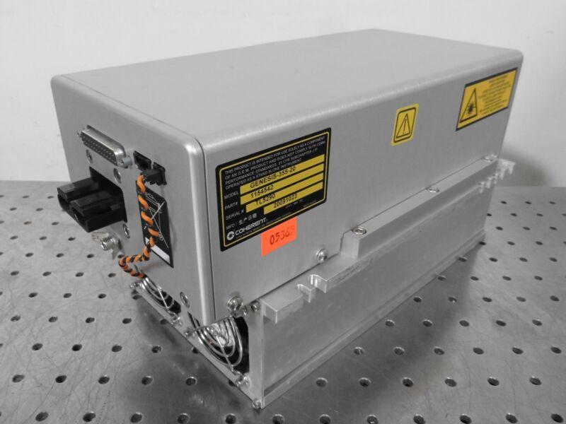 G177032 Coherent Genesis 355-20 P/N 1154542 Laser Head w/ Cooling Module