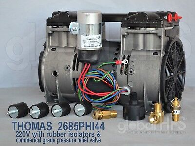 New 220v Thomas 2685phi44 34hp Lake Fish Pond Pump Aerator Waccessory 2685pe40