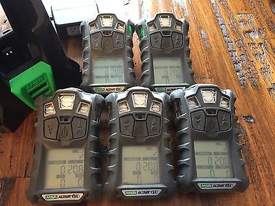 Msa Altair 4x Multi Gas Meter Monitor Detector O2h2scolel Charger Calibrated