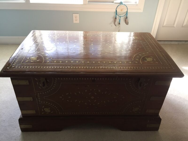 Truly Incredible & Beautiful Antique Trunk/Steamer Chest,Rare,Unique Piece