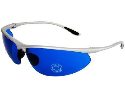- G&G Best New Golf Ball Finder Glasses True Blue Lens Sunglasses Silver Gift