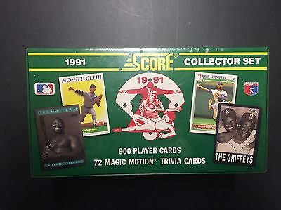 1991 Score Baseball Cards Complete Factory Sealed 900 Card Set W 72 Motion Cards