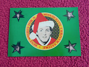 PAUL McCARTNEY BEATLES 1979 UK MPL PROMO CHRISTMAS CARD SIGNED BY PAUL & LINDA?