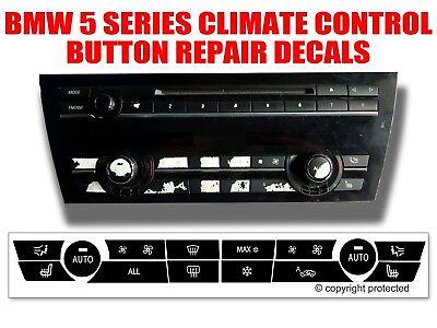 Bmw 5 Series Dash Climate Control Panel Button Repair Decal Kit 61319290739