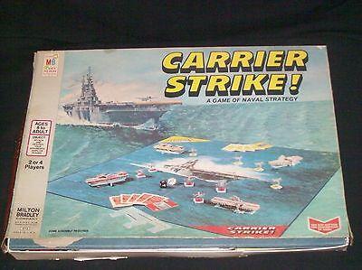 Vintage Milton Bradley 1977 Carrier Strike Board Game Naval Strategy