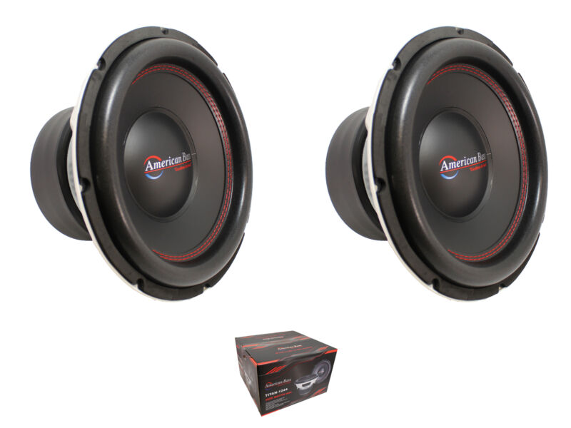 """Pair of American Bass 12"""" 3200 Watts 3"""" Dual 4 Ohm Voice Coil Subwoofer Titan"""