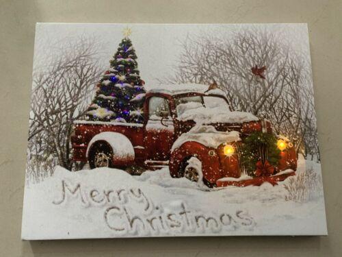 Christmas Decor Led-Light Canvas Picture Holiday Gift seasonal Wall Print