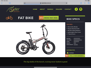 Ryder fatty electric folding  bike 2 available  condition is used