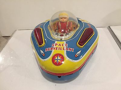 Spaceship Modern Toys Surveilant Battery Operated Tin Toy Masudaya