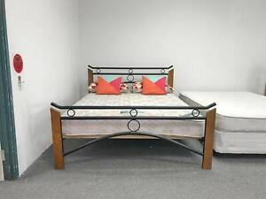 TODAY DELIVERY MODERN METAL Queen bed frame (mattress sale)