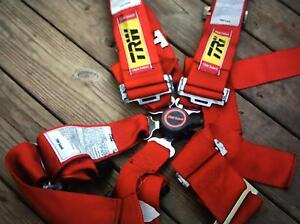 TRW / SABELT 5 POINT RACE SEAT HARNESS SINGLE RED Heritage Park Logan Area Preview