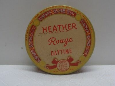 Vintage Pharmacy Beauty Collectible Makeup HEATHER ROUGE DAYTIME TIN