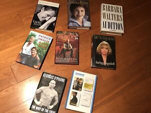 Hardcover biography books $10 each or bo for all