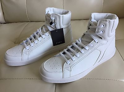 New Men's Zara White High Top Sneakers Size 7