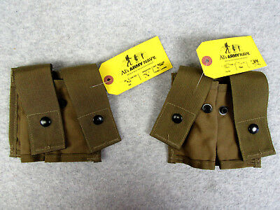 MOLLE II Military USGI Issued Lot of 2 40mm Pyrotechnic Double Pouches ACU