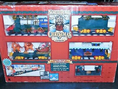 Northpole Christmas Express Animated Train SetBattery Operated Works Great !
