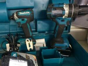 MAKITA CORDLESS BRUSHLESS DRILL KIT with 2 Batteries   Charger in Case Campbelltown Campbelltown Area Preview