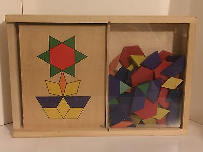 Melissa & Doug Pattern Blocks and Boards - Classic Toy With 70 Solid Wood Shapes