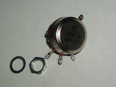 Potentiometer 100k Ohm 2w Linear Carbon Potentiometer Wth118 Shaft Od 6mm