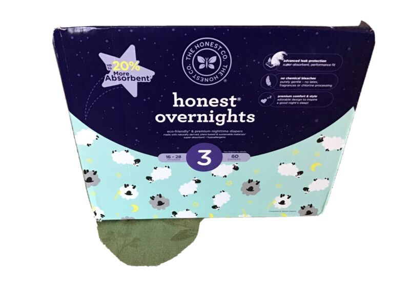 The Honest Company Honest Baby Overnight Diapers (Size 3, 60pcs)