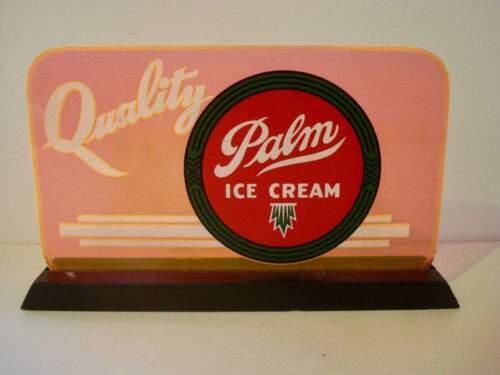 Vintage ~ PALM ICE CREAM ~ Advertising Sign ~ 1950