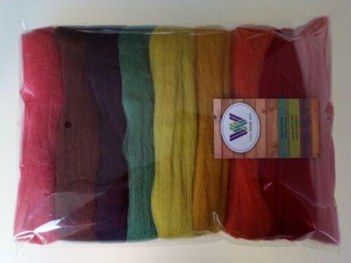 September* Pure Merino Wool for Needle and Wet Felting, packs of 30, 60 or 90 g