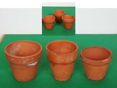 Vintage Terracotta Flower Pots X 6, Medium and Small