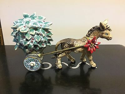 Rare Hummel Degrazia Goebel Nativity Feliz Navidad Donkey