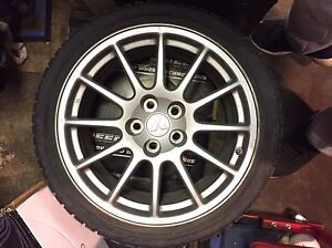 2013 Mitsubishi EVO 10 wheels with tpms
