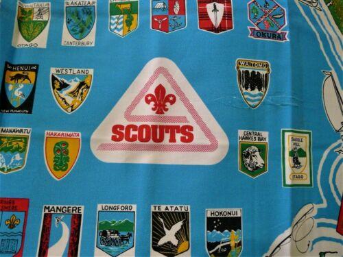Vintage NEW ZEALAND Boy Scout BSA 1993 SCOUT JAMBOREE NZ CAMP HANGING CLOTH MAP
