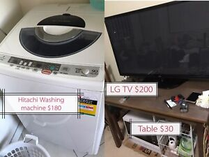Furniture and electric appliances for sale