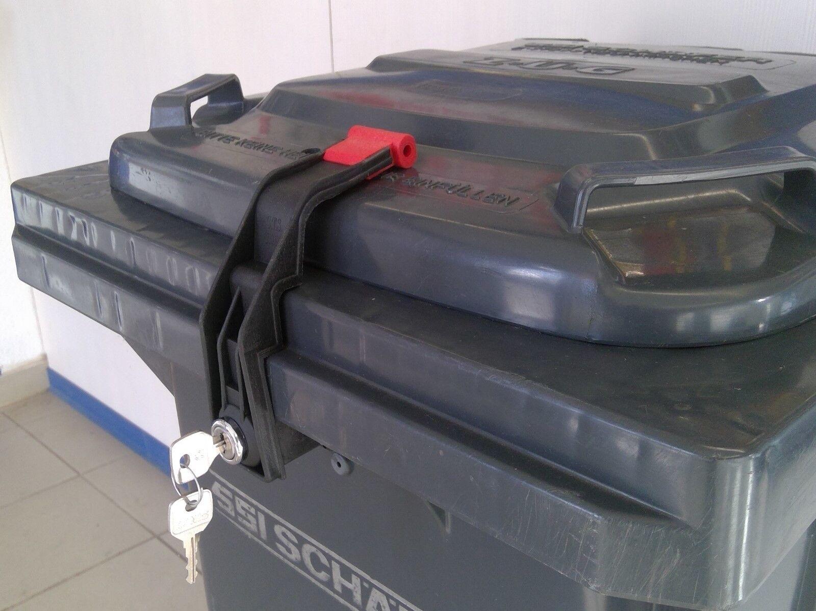 Mülltonnenverriegelung, Mülltonnenschloss 60 - 360 Liter VS mit mehr Schlüssel