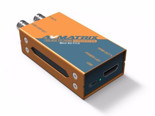 AVMatrix SC1112 Pocket-size Broadcast Converter 3G-SDI to HDMI Seamless
