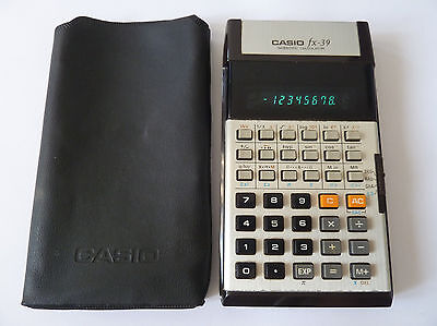 CASIO fx-39 - vintage scientific calculator - MADE in JAPAN