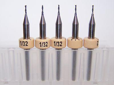 5 - 132 .0312 Carbide 2 Flute Endmill New Kyocera Tycom 1600.0312.120