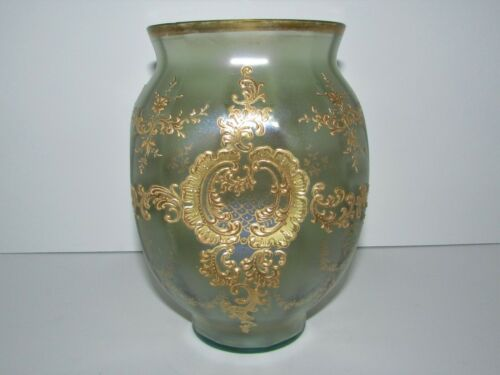 Antique Bohemian Loetz Iridescent Decorated Olympia Art Glass Vase 780