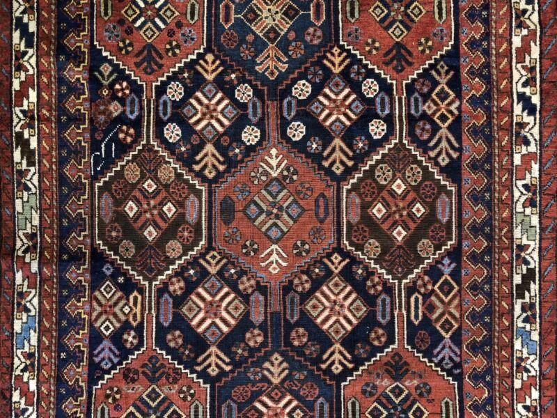 Perfect Persian - 1940s Antique Tribal Carpet - Nomadic Rug - 4.8 X 6.3 Ft.