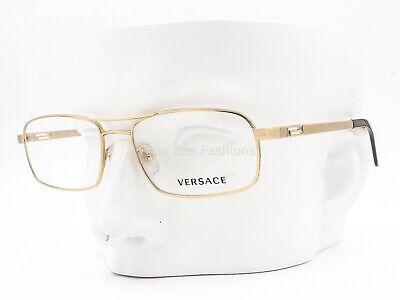Versace MOD 1190 1297 Aviator Eyeglasses Frames Glasses Gold 55-17-140 w/case