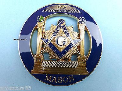 Blue Lodge Master Mason Cut out Car Emblem B&J Freemasonry  Pillars Luxurious