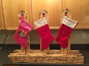 Homemade Wooden Snowmen, Growth Stick, Stocking Holder
