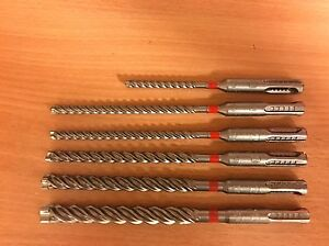 6 tlg.Hilti SDS PLUS Bohrer SET TE - CX M1 5-6-6-8-10-12 mm  Stahl Beton