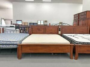 TODAY DELIVERY WOODEN STRONG Queen bed frame (mattress avai)