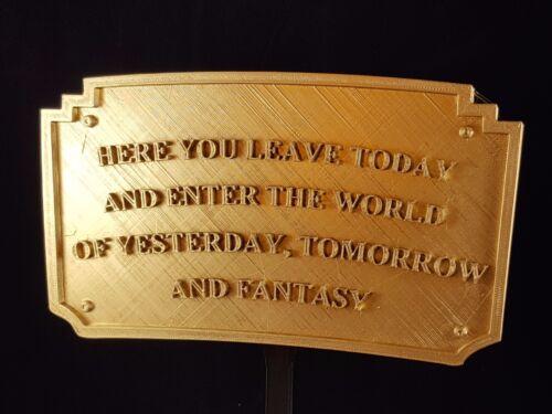 Magic Kingdom DL Entranceway Plaque Inspired Sign - Gold Shade