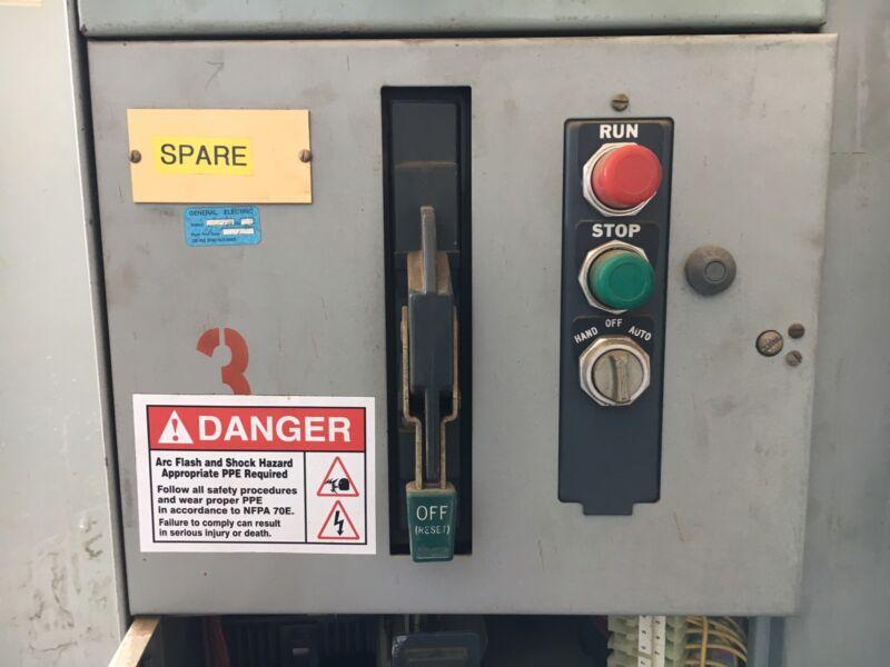 "Sylvania / Clark 6200 12"" Motor Control Bucket Size 1 Starter TEC36007 Breaker"